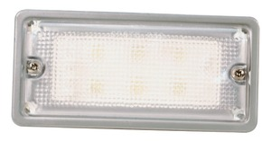 61991 by GROTE - Courtesy and Dome Rectangular LED Lamp, Courtesy, White, 6 Diodes, Recess-Mount 12-Volt, 300 Lumens, White