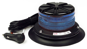 76675 by GROTE - Low Profile Class I LED Beacon, Blue, Vacuum Mount