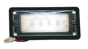 82080 by GROTE - Courtesy and Dome Rectangular LED Lamp, Courtesy, Rectangular, Tyco, 6 Diodes, 10 to 30-Volt, 150 Lumens, Black