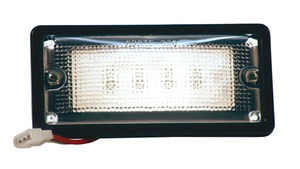 82400 by GROTE - Courtesy and Dome Rectangular LED Lamp, Courtesy, Rectangular, Tyco, 6 Diodes, 18 to 32-Volt, 150 Lumens, Black