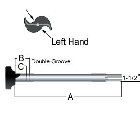 """CS41507 by HALDEX - Universal with 16-1/2"""" Brakes - Double Groove"""