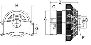 79A8621-2 by HORTON - Reman,Clutch DriveMaster Advantage 2-speed W/Lock-Up Se 21 Hdep,173.0,10-Pk,65.0 Plt,20.7 Studs