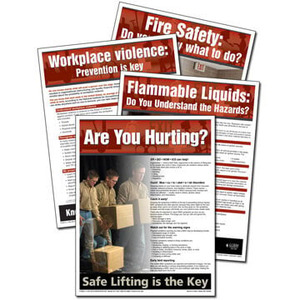 19867 by JJ KELLER - Workplace Safety Advisor Poster Service - 1 Poster per Month, 1-Yr. Subscription
