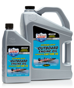 10662 by LUCAS OIL - Outboard Engine Oil Synthetic SAE 10W-40 - 1 Quart (Representative Image)