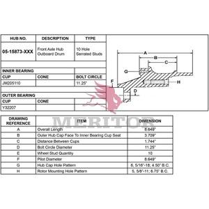 0515873003 by MERITOR - AY-FRT HUB/ABS