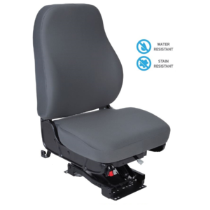 40233.078 by NATIONAL SEATING - Refuse Truck Seat Mid-Back with in Water & Stain Resistant Gray Cloth