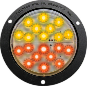 1218A-R-SW by PETERSON LIGHTING - 1217/1218 Piranha ¨ LED Round Combo Rear Position, Stop & Turn Indicator Light