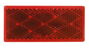 B483R by PETERSON LIGHTING - Rectangular Quick-Mount Reflector - Red