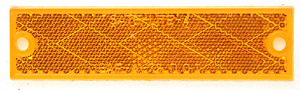 B487A by PETERSON LIGHTING - Compact Rectangular Reflector - Amber