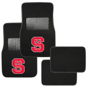 FM-949 by PILOT - College FloorMat 4 pc. Set - North Carolina State Wolfpack