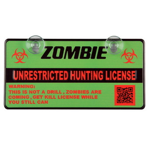 WL744 by PILOT - Zombie License Mini Plate