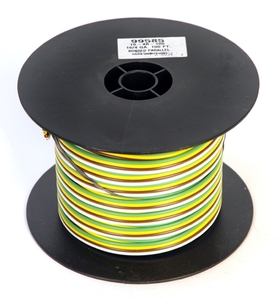 16-4B-100 by REDNECK TRAILER - WIRE, 4-BONDED 16GA YW BN GN WE,100'ROLL 4RL/BX - PRICE PER FOOT
