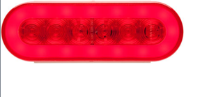 "STL-111RB by REDNECK TRAILER - LED S/T/T RED 6"" OVAL GLOLIGHT"
