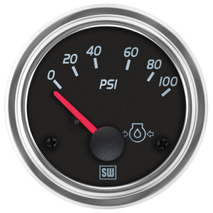 122256 by STEWART WARNER - Gauge, Oil Pressure