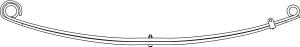 43-818 by TRIANGLE SUSPENSION SYSTEMS CO. - Ford, F Spr, Lvs:2 FT; OEM# 2C3Z-5310-AF; SE Length: 27-1/2; LE Length: 28-1/8; SE End: RB245; LE End: RB248; Grading 2/0.625