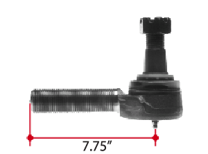 ES3443L by TRIANGLE SUSPENSION SYSTEMS CO. - Tie Rod End