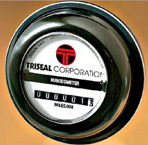 83075 by TRISEAL - Aluminum Oil Hubcap-Hubodometer Window