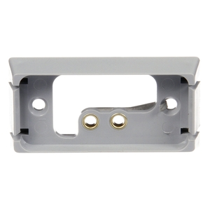 00792 by TRUCK-LITE - Self Grounding, Bracket Mount, 15 Series Lights, Used In Rectangular Shape Lights, Gray ABS, 2 Screw Bracket Mount