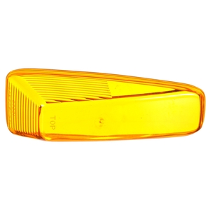 07021 by TRUCK-LITE - Triangular, Yellow, Polycarbonate, Replacement Lens for 25761Y, Snap-Fit