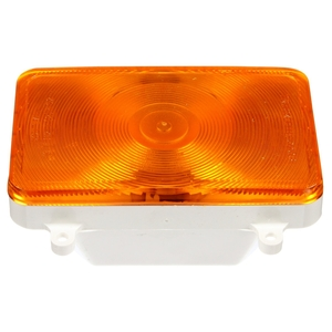 07080 by TRUCK-LITE - Incandescent, Yellow Rectangular, 1 Bulb, Front/Park/Turn, 4 Screw, 12V, Packard Connector 6288471