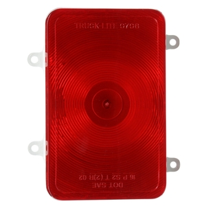 07092 by TRUCK-LITE - Bus, Incandescent, Red, Rectangular, 1 Bulb, Stop/Turn/Tail, 4 Screw, Blade Terminal, 12V