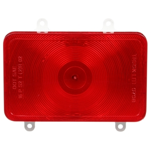 07093 by TRUCK-LITE - Bus, Incandescent, Red, Rectangular, 1 Bulb, Stop/Turn/Tail, 4 Screw, Blade Terminal, Stripped end, 24V