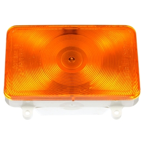 07094 by TRUCK-LITE - Incandescent, Yellow Rectangular, 1 Bulb, Rear Turn Signal, 4 Screw, 3 Blade Terminal, 24V