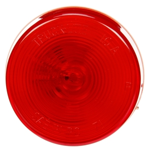 10004R by TRUCK-LITE - 10 Series, Incandescent, Red Round, 1 Bulb, Marker Clearance Light, PC, Bracket Mount, PL-10, Ring Terminal/Stripped End, 12V, Kit