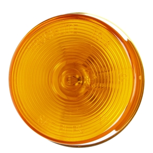 10004Y by TRUCK-LITE - 10 Series, Incandescent, Yellow Round, 1 Bulb, Marker Clearance Light, PC, Bracket Mount, PL-10, Ring Terminal/Stripped End, 12V, Kit