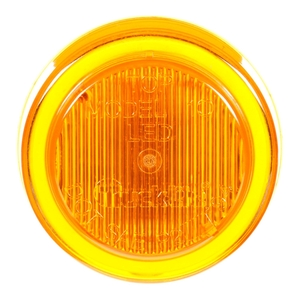 10050Y3 by TRUCK-LITE - 10 Series, LED, Yellow Round, 2 Diode, Marker Clearance Light, P2, Black Polycarbonate Grommet Mount, Fit 'N Forget M/C, Female PL-10, 12V, Kit, Bulk