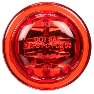 10085R by TRUCK-LITE - 10 Series, LED, Red Round, 8 Diode, Marker Clearance Light, PC, Black PVC Grommet Mount, Fit 'N Forget M/C, Female PL-10, 12V, Kit