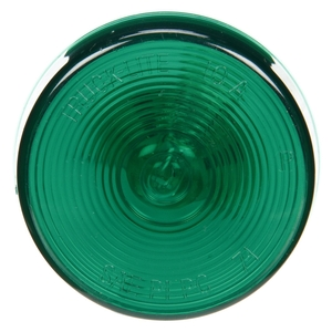 10202G by TRUCK-LITE - 10 Series, Incandescent, Green Round, 1 Bulb, Marker Clearance Light, PC, PL-10, 12V