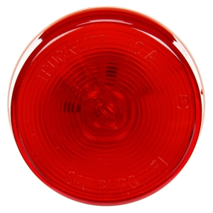 10204R by TRUCK-LITE - 10 Series, Incandescent, Red Round, 1 Bulb, Marker Clearance Light, PC, PL-10, 24V