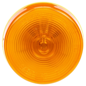 10204Y by TRUCK-LITE - 10 Series, Incandescent, Yellow Round, 1 Bulb, Marker Clearance Light, PC, PL-10, 24V