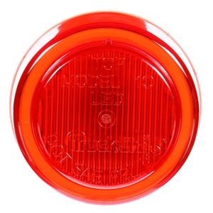 10250R by TRUCK-LITE - 10 Series, LED, Red Round, 2 Diode, Marker Clearance Light, P2, Fit 'N Forget M/C, 12V