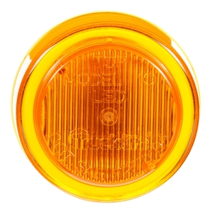 10250Y by TRUCK-LITE - 10 Series, LED, Yellow Round, 2 Diode, Marker Clearance Light, P2, Fit 'N Forget M/C, 12V