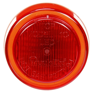 10256R by TRUCK-LITE - 10 Series, LED, Red Round, 3 Diode, Marker Clearance Light, P2, Fit 'N Forget M/C, 12-24V
