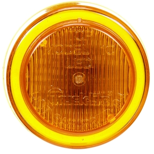 10256Y by TRUCK-LITE - 10 Series, LED, Yellow Round, 3 Diode, Marker Clearance Light, P2, Fit 'N Forget M/C, 12-24V