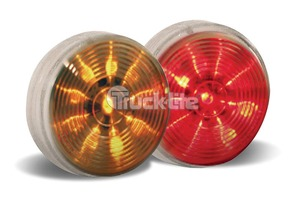 "1051-3 by TRUCK-LITE - LED Signal Stat M/C 2 1/2 ""  Lamp Clear Lens"
