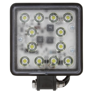 81500 by TRUCK-LITE - Super 81 4x4 in. Square LED Work Light, Black, 12 Diode, 2650 Lumen, Blunt Cut, 12-24V