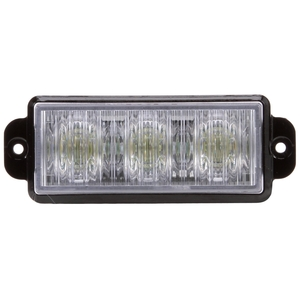 92870C by TRUCK-LITE - LED, Strobe, 3 Diode, Rectangular Clear, Black Bracket Mount, Class I, Hardwired, Stripped End, 12V