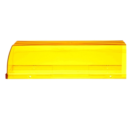 99226Y by TRUCK-LITE - End Dome, Rectangular, Yellow, Polycarbonate, Replacement Lens for Light Bars (92684, 92685), 4 Screw