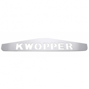 """10435 by UNITED PACIFIC - 4"""" x 24"""" Kwopper Bottom Mud Flap Plate - Welded Stud"""