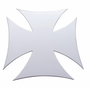 """10953 by UNITED PACIFIC - 7"""" x 7"""" Maltese Cross Stainless Cutout - Bolt Thru"""