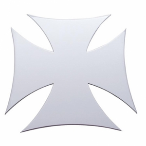 """10954 by UNITED PACIFIC - 12"""" x 12"""" Maltese Cross Stainless Cutout - Welded Studs"""