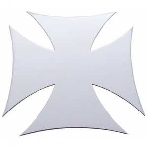 """10955 by UNITED PACIFIC - 7"""" x 7"""" Maltese Cross Stainless Cutout - Welded Studs"""