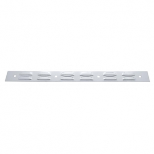 """20209 by UNITED PACIFIC - 2"""" x 24"""" Louvered Stainless Top Mud Flap Plate - Bolt Thru"""