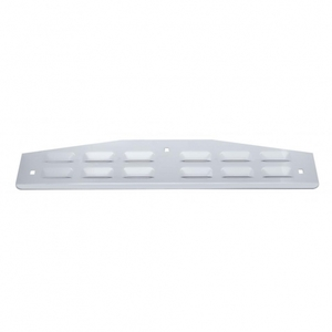 """20210 by UNITED PACIFIC - 4"""" x 24"""" Louvered Stainless Bottom Mud Flap Plate w/ Lip - Bolt Thru"""