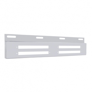 """21370B by UNITED PACIFIC - Stainless Top Plate w/ Four 9"""" Light Bar Cutout"""