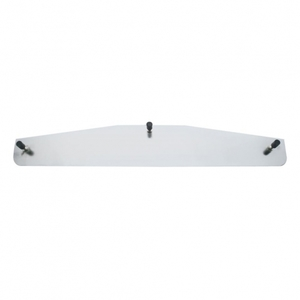 """21414 by UNITED PACIFIC - 3"""" x 14"""" Standard Stainless Bottom Mud Flap Plate - Welded Stud"""